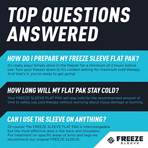 FreezeSleeve Flat Pak - 12'' x 17'' Cold Therapy Treatment- Black by FreezeSleeve (Image #4)