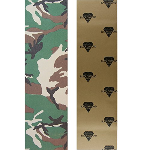 Camo Grips - Black Diamond Longboard Skateboard Grip Tape Sheet (camo)