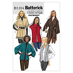 Butterick Patterns B5394 Misses' Cardigan, Size Y (XSM-SML-MED)