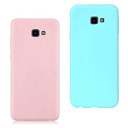 EuCase 2X Funda para Samsung Galaxy J4 Plus 2018 Silicona Carcasa Galaxy J4 Plus 2018 Antigolpes Suave TPU Flexible Goma Mate Ultra Delgada Color ...