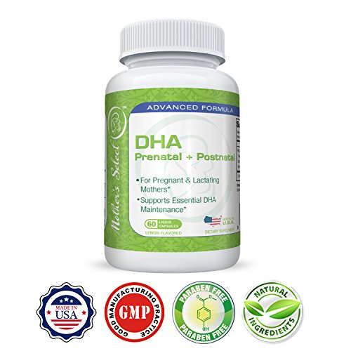 Mother 39 s select dha for prenatal and postnatal provides for Best fish oil for pregnancy