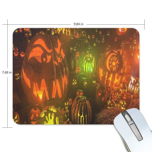 Mouse Pad HD Halloween Background Gaming Mousepad Cheap Small Thick Mouse Mat Black Custom Personalized Mouse -