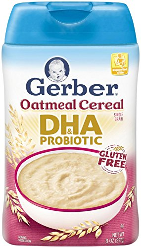 Gerber Dha & Probiotic Oatmeal Baby Cereal, 8 Ounce