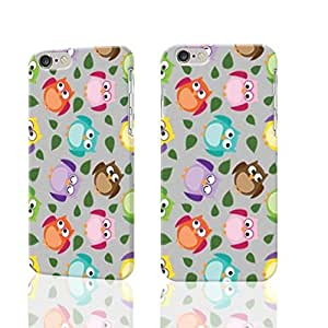 Nice Customized Animal Print Colorful Owl Picture Unique Printed Photo Plastic Hard Customized Personalized 3D Case For iPhone 6 Plus - 5.5 inches