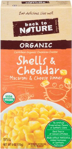 Back to Nature Organic Shells & Cheese, 6-Ounce Boxes (Pack of 12)