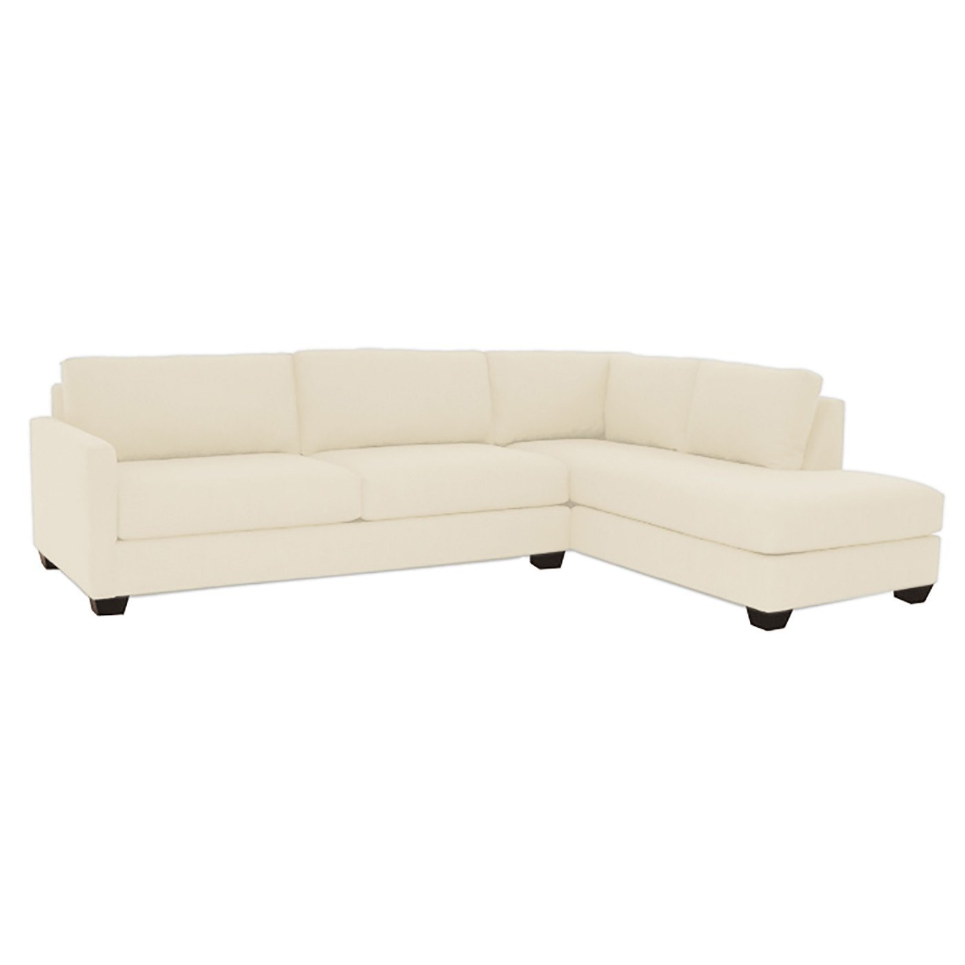 Amazon.com: Tuxedo 2-Piece Sectional Sofa, Buckwheat, RAF - Chaise ...