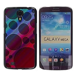 TopCaseStore / la caja del caucho duro de la cubierta de protección de la piel - Pattern Black Violet Pink Abstract - Samsung Galaxy Mega 6.3 I9200 SGH-i527