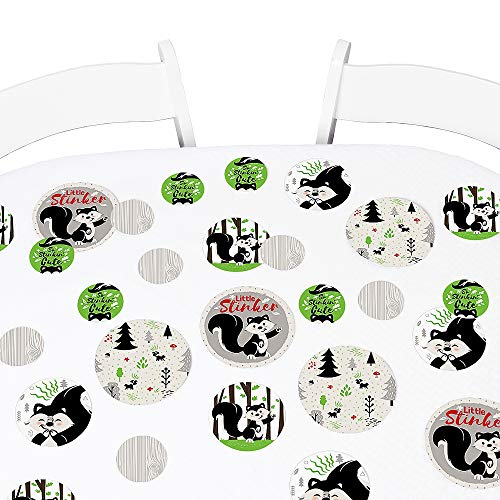 Skunk Stinker - Big Dot of Happiness Little Stinker - Woodland Skunk Baby Shower or Birthday Party Giant Circle Confetti - Party Decorations - Large Confetti 27 Count