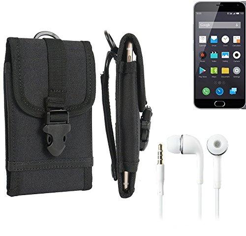 bolsa del cinturón / funda para Nokia 130 Dual SIM, negro + Auriculares | caja del teléfono cubierta protectora bolso - K-S-Trade (TM)