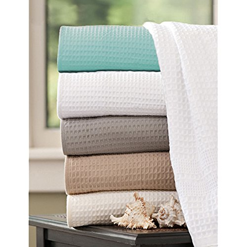 Waffle Weave Bath Towel Set with Bath Mat - Classic Style (White) by Gilden Tree (Image #3)
