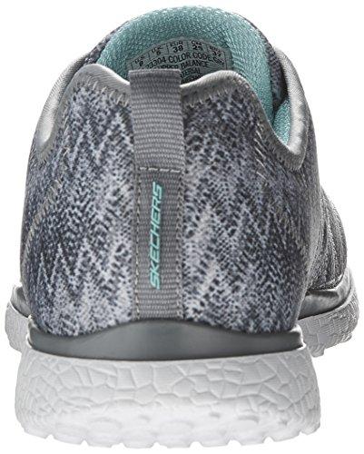 Skechers Microburst Fluctual - Zapatillas de tela para mujer gris gris