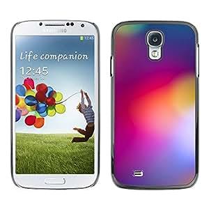 PC/Aluminum Funda Carcasa protectora para Samsung Galaxy S4 I9500 blurry purple yellow lights color colors / JUSTGO PHONE PROTECTOR