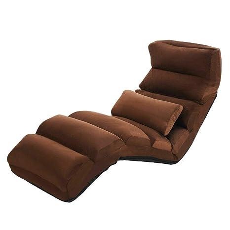 Amazon.com: Brown Folding Lazy Sofa Chair Stylish Sofa Couch ...
