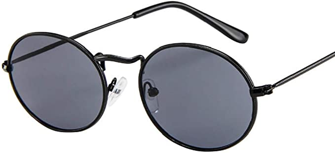 Cateye Sonnenbrille rund Retro  blau schwarz orange verspiegelt 572