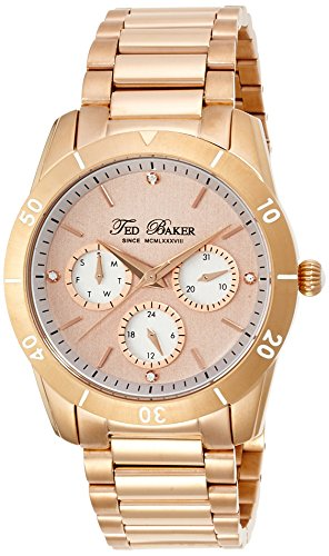 Ted Baker Women's TE4084 Dress Sport Rose Gold-Tone Stainless Steel Multi-Function Watch