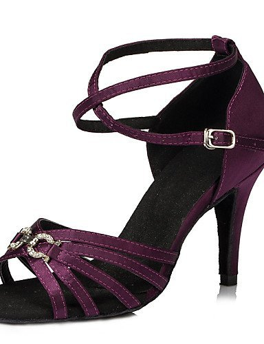 Shoes Cuban Red Latin Non Patent Women's Shangyi Leather Black Customizable Dance Heel P41AIq