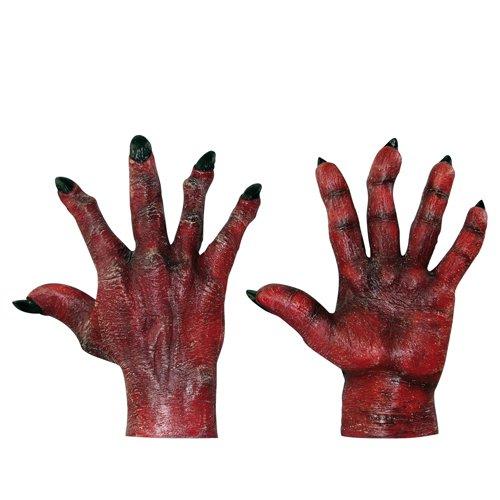 Demon Costume Gloves (Adult Evil Red Hands Standard)