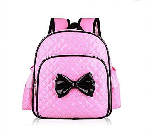 Leather Bags Zhuhaixmy Bow Backpack Students fPrimary Pink Children School Waterproofrose PU q0frnF0