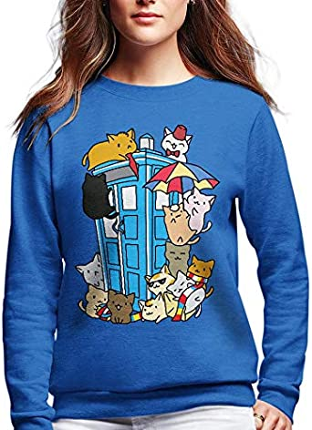 Funny Vintage Trending Awesome Shirt Doctor Who Movie Fans Unisex Style SMLBOO Sweatshirt Doctor Who Cats