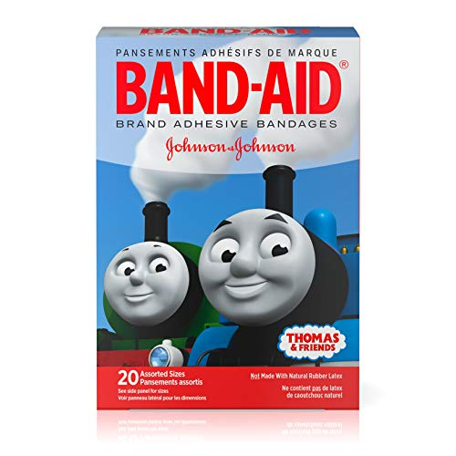 Band-Aid Brand Adhesive Bandages Featuring Thomas & Friends, Assorted Sizes, 20 Count