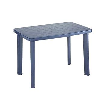 Amazon.de: greemotion Kunststoff-Gartentisch in Blau - Esstisch oval ...