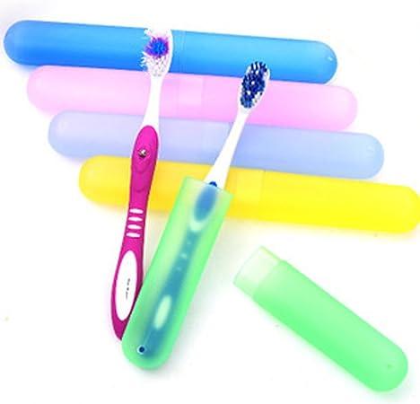 4pcs plástico cepillo de dientes cajas de tubo de protección Funda de accesorios de viaje: Amazon.es: Hogar
