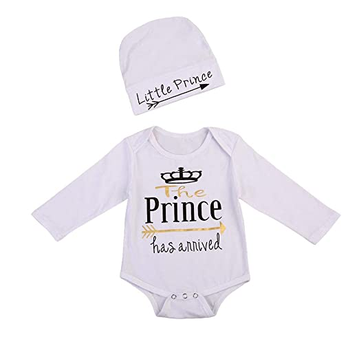 01e09a505 Amazon.com  Newborn Baby Boys Girls Long Sleeve Letter Print Romper ...