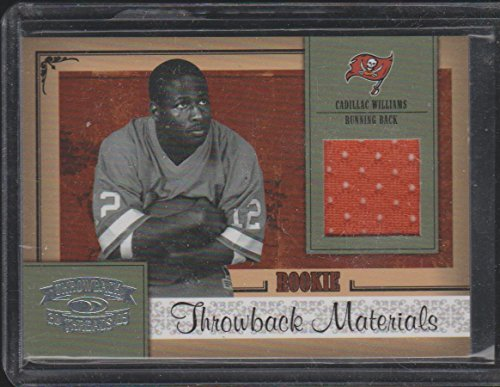 2005 Donruss Throwback Threads Cadillac Williams Buccaneers Rookie Jersey Football Card #206 ()