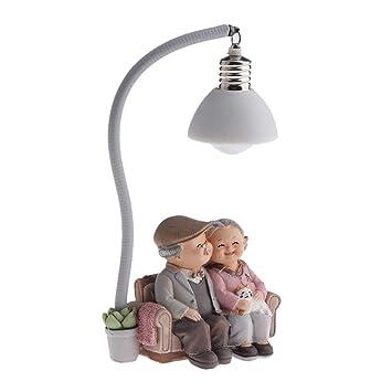 1Pair Miniature Fairy Garden Cartoon Old Couple Lovers Ornament Dollhouse M