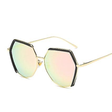 Amazon.com: HONGNA Gafas de sol poligonales irregulares para ...