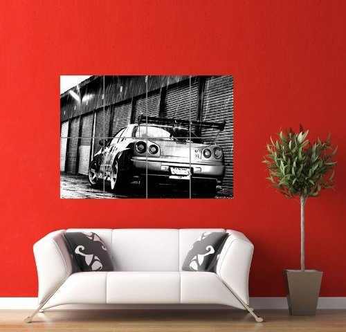 Nissan Gt R Skyline Car Giant Panel Poster Art Print Picture