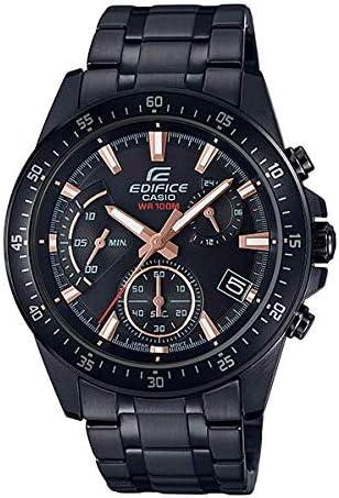 Casio Edifice Herren-Armbanduhr, Edelstahl, Schwarz, EFV-540DC-1BVUEF