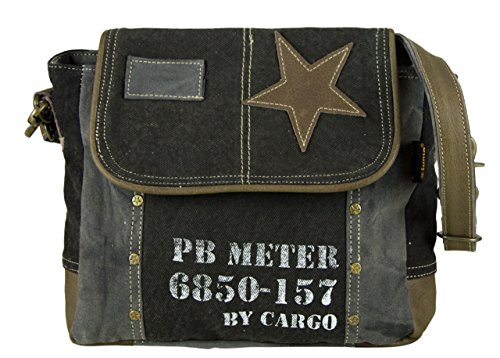 Shopping Bag Lady Man Sunsa Vintage Shoulder Bag Handbag Made Of Fabric / Leather 51775