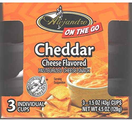 Alejandro On-The-Go Cheddar Cheese Flavored Snack Spread 4.5 Oz