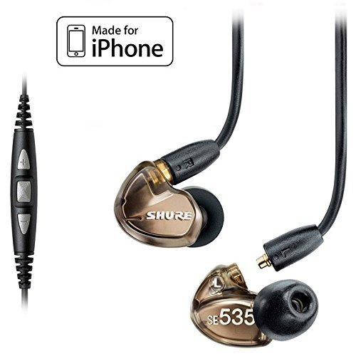 Shure SE535-V Earphones and Music Phone Cable with Remote and Mic for iPhone, iPod and iPad