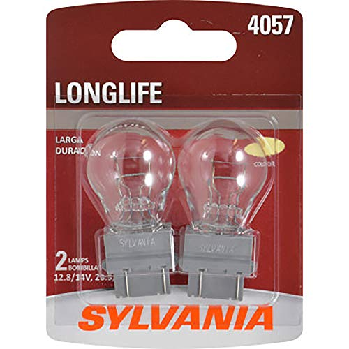 SYLVANIA - 4057 Long Life Miniature - Bulb, Ideal for Daytime Running Lights (DRL) and Back-Up/Reverse Lights (Contains 2 Bulbs)
