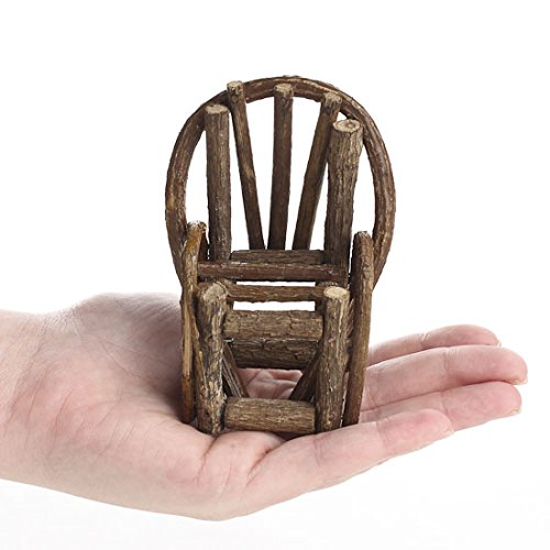 Whimsical Additions 4 Handcrafted Miniature Bentwood Twig Chairs for Your Fairy Garden or Gnome Village