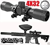 Trinity Supply 4x32 Rifle Scope for Paintball Guns, Paintball Gun Scope, Paintball Gun