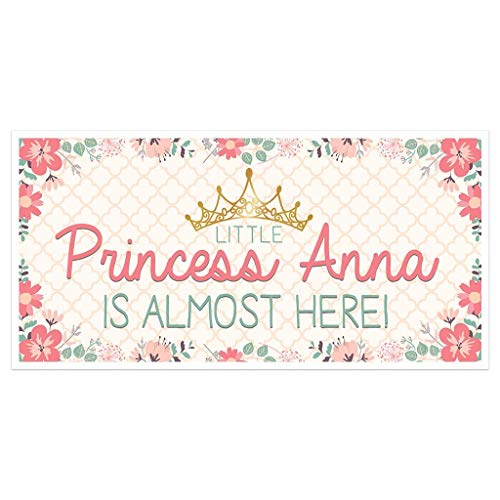 Little Princess Baby Shower Banner Personalized Party Backdrop Decoration