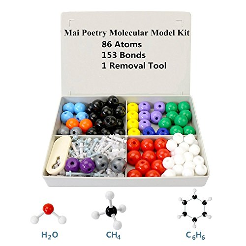 Bond Removal (Organic Chemistry Model Kit-Molecular Model with Molecule Structure Building Software with 86 Atoms, 153 Bonds and 1 Removal Tool for Students, Teachers and Enthusiasts)
