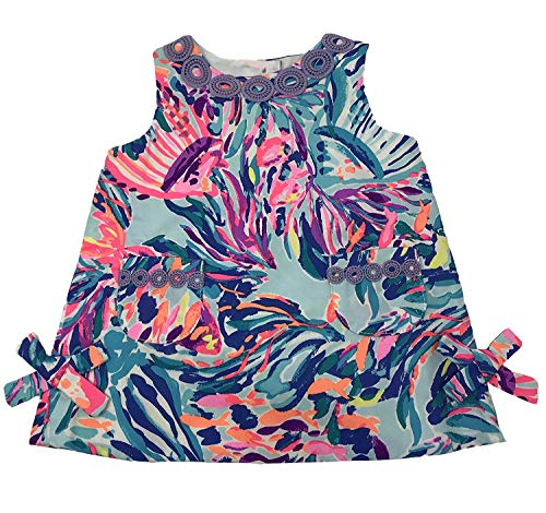 Lilly Pulitzer Girls Lilly Classic Shift (Serene Blue Seas The Day, 3/6 Months)