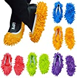 10pcs (5 Pairs) Mop Slippers Shoes Cover Easy for Floor Dust Dirt Hair Bathroom Office Kitchen House Polishing Dusting Cleaning, Soft Washable Foot Socks, Chenille Fibre 9.4 × 4.7 Inch