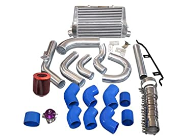 cxracing Intercooler + tuberías Kit BOV Turbo Filtro de aire para 98 - 05, Lexus IS300 2jz-ge na-t azul mangueras: Amazon.es: Coche y moto