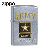 Zippo US Army Logo Windproof Lighter, Street Chrome