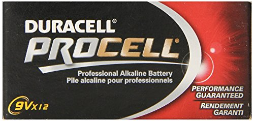 Duracell Procell 9 Volt Batteries, Pack of 24 (nd3szw)