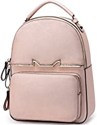FOXER Women Leather Backpack Purse Small Backpack Casual Shoulder Schoolbag