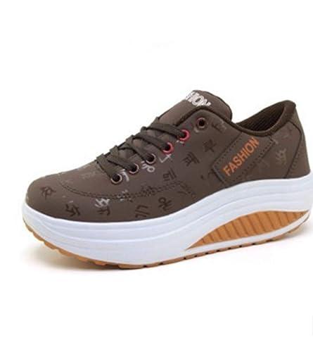 0c16602faaf7e Amazon.com | JOYBI Women Platform Wedge Outdoor Sneakers Comfort ...