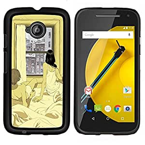 Stuss Case / Funda Carcasa protectora - Appartamento Finestra Winter Love Xoxo - Motorola Moto E2 E2nd Gen