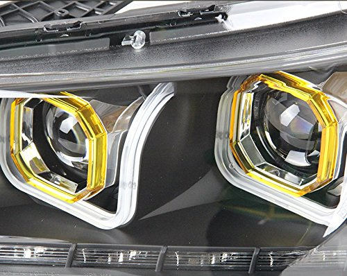 GOWE Car Styling Head Lamp for Honda Accord Headlight 2013 New Accord LED Headlight DRL H7 D2H Hid Option Angel Eye Bi Xenon Color Temperature:6000K Wattage:35W 4