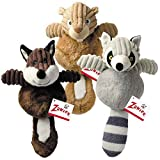 Zanies Country Crew Squirrel Toy (4 Pack) For Sale
